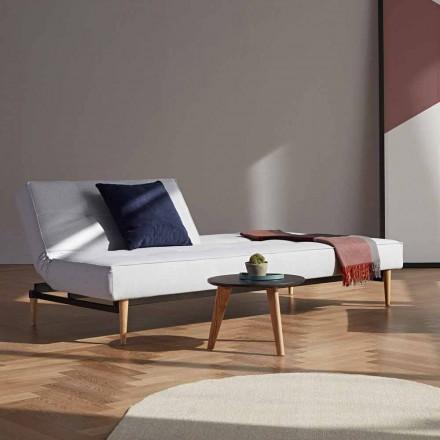 Nowoczesna sofa rozkładana Splitback firmy Innovation w tkaninie
