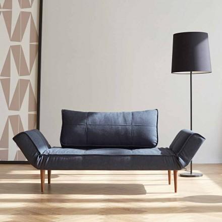 Nowoczesna sofa rozkładana Zeal by Innovation z tapicerowanego materiału