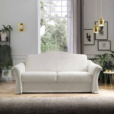 Sofa rozkładana z tkaniny z detalami Arabescato Made in Italy - Gigliola