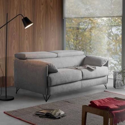 Rozkładana sofa z tkaninami we wzory wykonane we Włoszech Vittorio