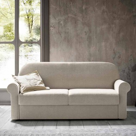 Podwójna sofa rozkładana z designerskiej tkaniny Made in Italy - Anemone