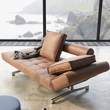 Nowoczesna tapicerowana sofa Ghia by Innovation z chromowanymi nogami