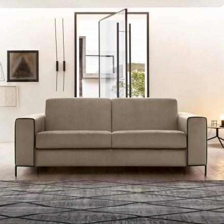 Nowoczesna sofa rozkładana z metalowymi nóżkami Made in Italy - Tulipano