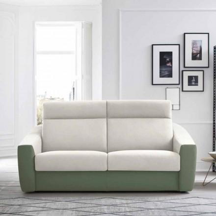 Nowoczesna rozkładana sofa tapicerowana tkaniną dwukolorową wyprodukowaną we Włoszech - Begonia