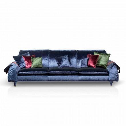 Liniowa sofa z tkaniny z podłokietnikami Axel