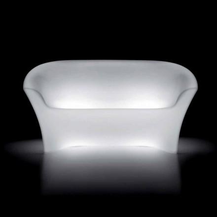 Jasna sofa zewnętrzna z polietylenu z oświetleniem LED Made in Italy - Conda