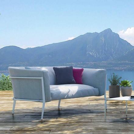 Nowoczesna sofa zewnętrzna lub wewnętrzna z wyjmowanym designem Made in Italy - Carmine