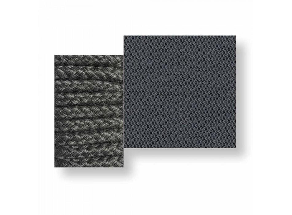 Centralna modułowa sofa na zewnątrz z tkaniny i liny - Cliff Decò firmy Talenti