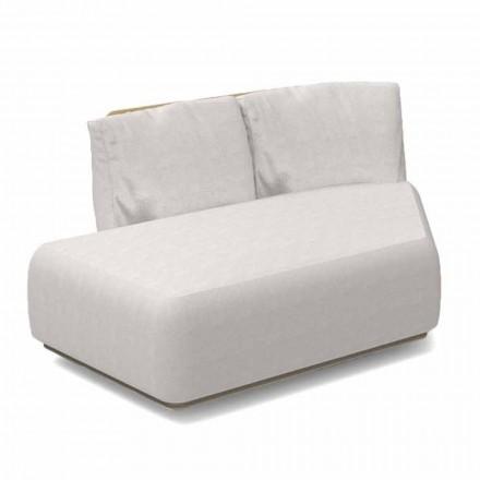 Prawa ukośna modułowa sofa na zewnątrz z aluminium i tkanin - Scacco Talenti