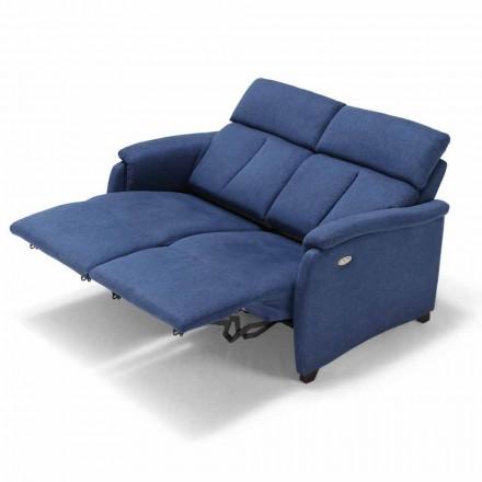 Sofa relax z 2 siedziskami elektrycznymi Gelso, made in Italy