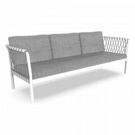 Trzyosobowa nowoczesna sofa ogrodowa z aluminium i tkaniny - Sofy firmy Talenti