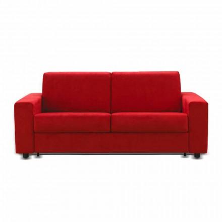 Sofa 3 osobowa design sztuczna skóra/materiał Mora