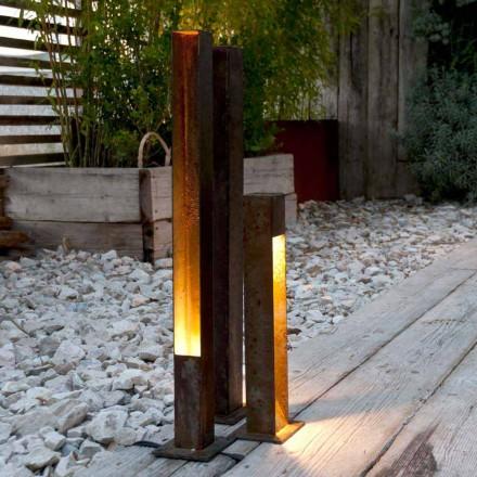 Zewnętrzny reflektor Artisan w wykończeniu Iron Corten Made in Italy - Sparta