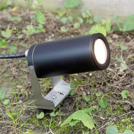 Reflektor ogrodowy z czarnego anodyzowanego aluminium z diodą LED Made in Italy - Forla