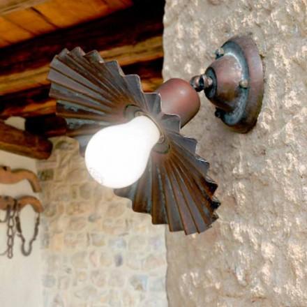 Lampa ścienna z mosiądzu antycznego Civetta