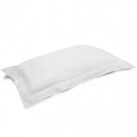 Poszewka na poduszkę z czystego lnu w kolorze kremowo-białym Made in Italy - Poppy