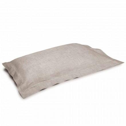 Poszewka na poduszkę z czystego lnu w naturalnym kolorze Made in Italy - Poppy