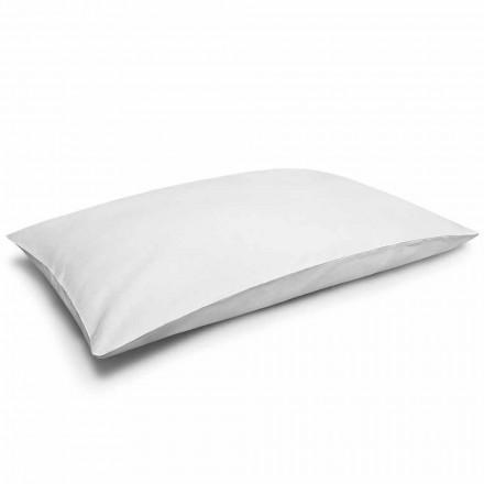 Kremowa, biała, lniana poszewka na poduszkę Made in Italy - Blessy