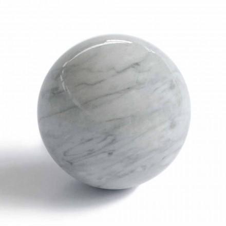 Nowoczesna szklana przycisk do papieru z szarego marmuru Bardiglio Made in Italy - Sphere
