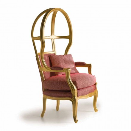 Fratelli Boffi fotel design z drewna i materiału Babette