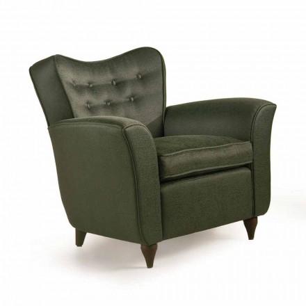 Fotel tapicerowany z pikowanym oparciem design Fratelli Boffi, Leonie