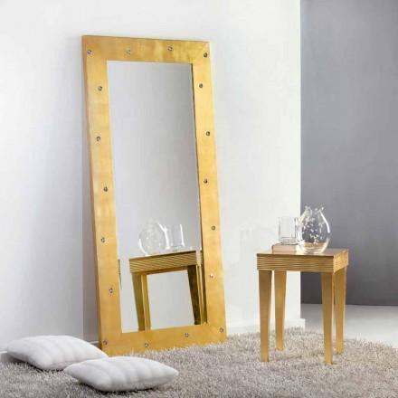 Duże lustro podłogowe/ścienne z kryształami Swarovski Vivien