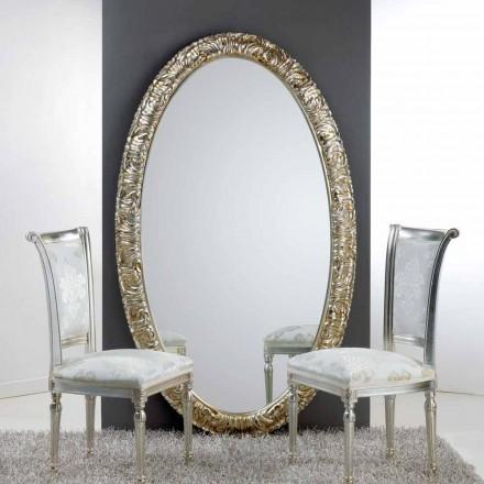Duże lustro owalne design Life 114x190 cm