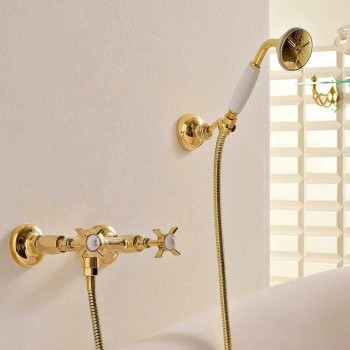 Grupa pryszniców zewnętrznych z mosiądzu w stylu vintage Made in Italy - Katerina