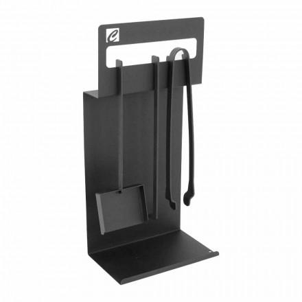 Zestaw narzędzi do projektowania kominka z czarnej stali Made in Italy - Ostro