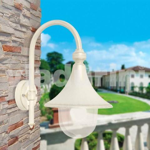 Biała aluminiowa lampa ścienna wyprodukowana we Włoszech, Anusca
