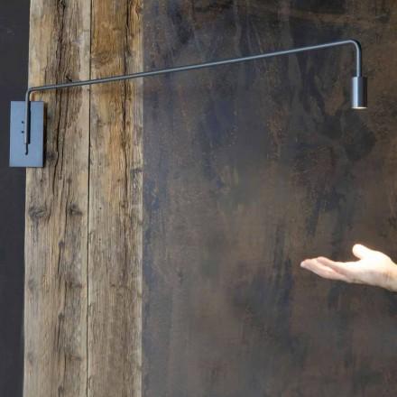 Zewnętrzny kinkiet z żelaza z regulowaną diodą LED Made in Italy - Forla