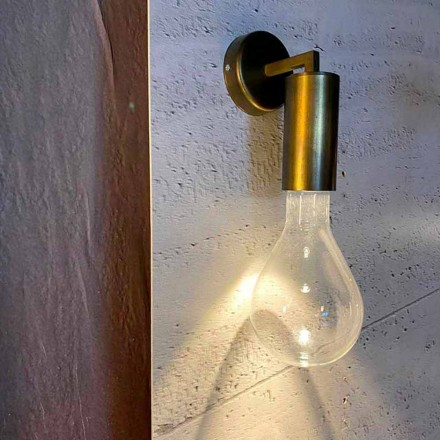 Ręcznie robiony kinkiet z aluminium i szkła Made in Italy - Rawenna