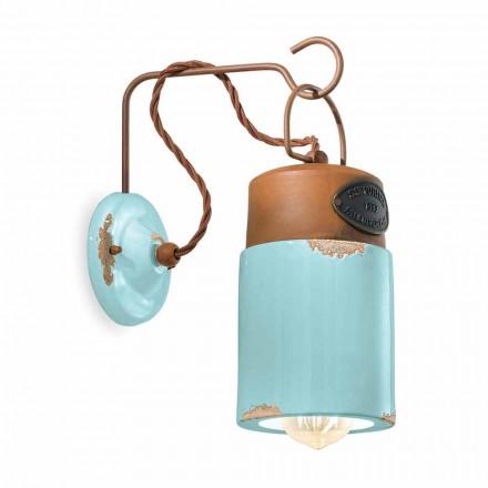 Lampa ścienna z ceramiki i żelaza rdza Desiree Ferroluce