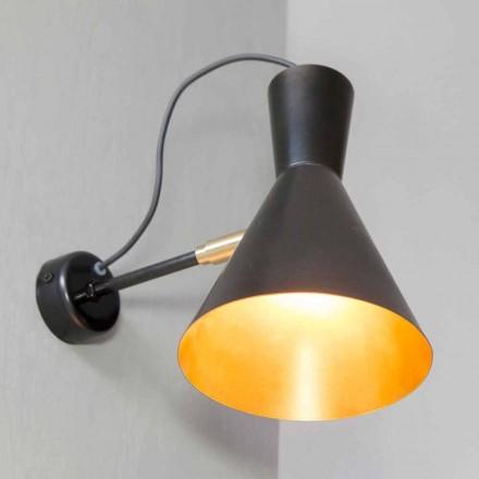 Ręcznie robiona lampa ścienna z żelaza i aluminium Made in Italy - Selina