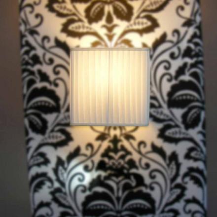Lampa ścienna design z jedwabiu Bamboo, kolor kość słoniowa