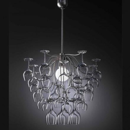 Lampa stojąca 30 kieliszków odwróconych Sauvignon