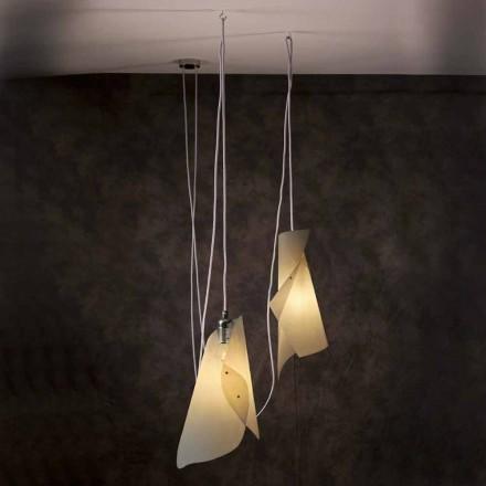 Lampa wisząca 2 punktowa, nowoczesny design, Chrome