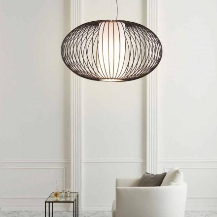 Lampa wisząca ze stali lakierowanej, przewód 90xh.53x L. 100 cm Gioia