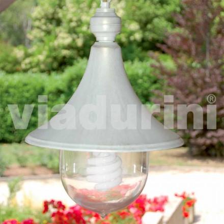 Zewnętrzna lampa wisząca wykonana z białego aluminium, wykonana we Włoszech, w Anusca