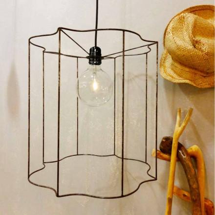 Lampa wisząca/stojąca design z klatką Cigno