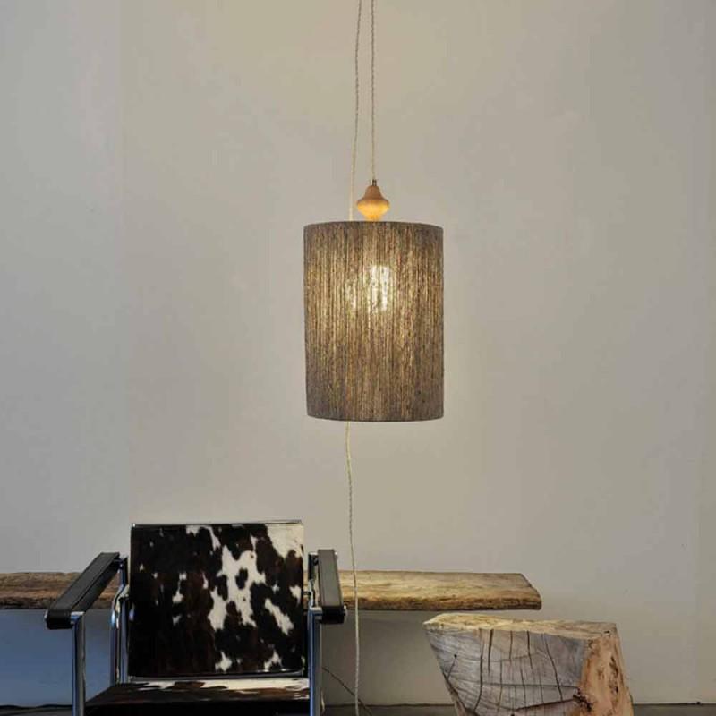 Lampa wisząca / lampa podłogowa z drewna i 100% wełny Bois