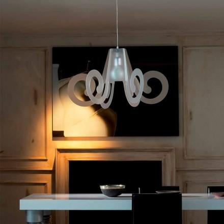 Lampa wisząca design z metakrylanu o średnicy 75 cm Rania