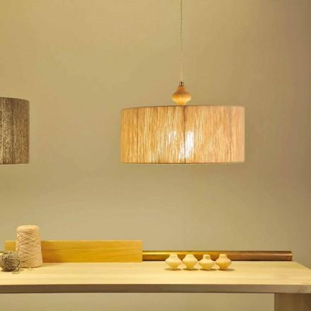 Lampa wisząca design Bois, przewód 400 cm