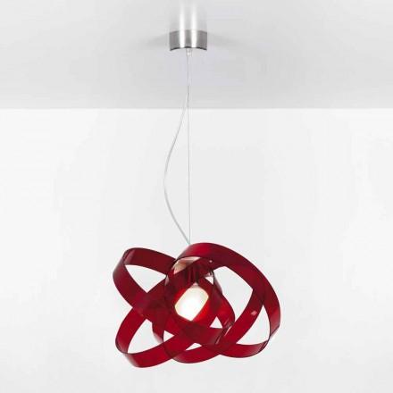 Lampa wisząca z metakrylanu, średnica 56 cm, Ferdi