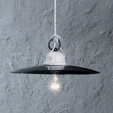 Lampa wisząca rustykalna z ceramiki Ferroluce, Potenza