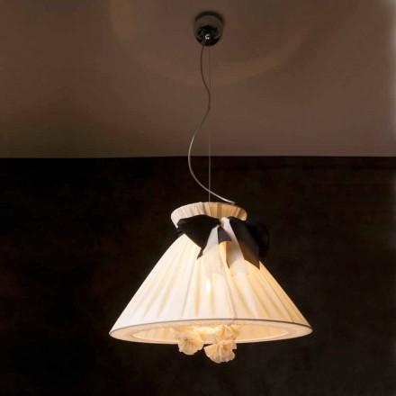 Lampa wisząca design z jedwabiu vintage, Chanel