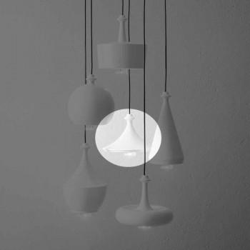 Designerska lampa wisząca z ceramiki - cekiny L1 Aldo Bernardi