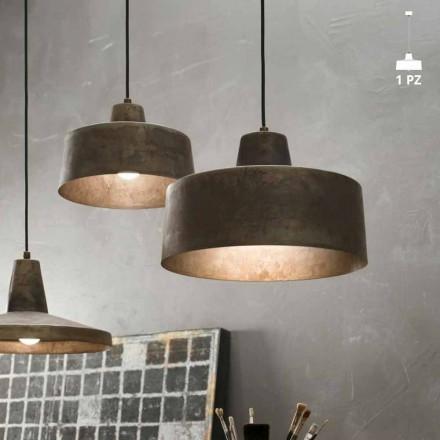 Lampa wisząca design z antycznego żelaza Jean Il Fanale