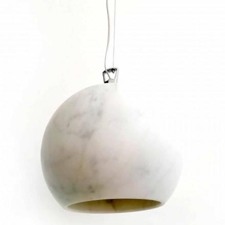 Zaprojektuj lampę wiszącą z białego marmuru z Carrary Made in Italy - Panda