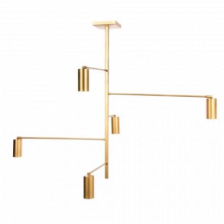 Ręcznie robiona lampa wisząca z malowanego żelaza Made in Italy - Pringa